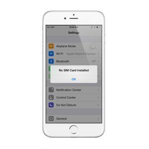 Lỗi không nhận SIM - iPhone 6 Plus