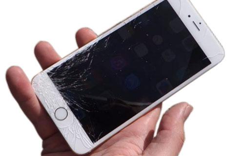 Bể vỡ màn hình thay nguyên bộ iPhone 6 Plus