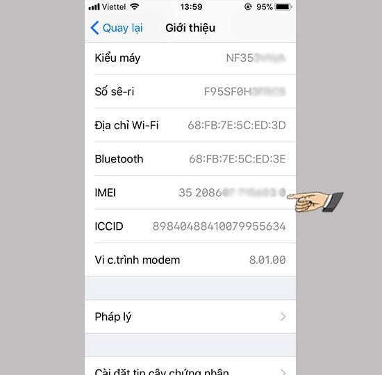 Cách kiểm tra icloud bằng imei