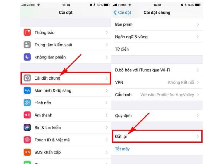 khắc phục lỗi face id trên iphone